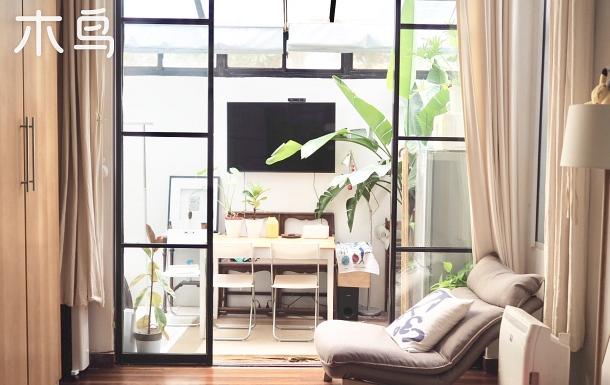 靜安寺梧桐街?全玻璃屋頂?獨享整套私密空間,超安靜雨林綠植好房