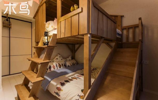 【住?14樓】新迎路理工大學童趣木屋滑梯床親子溫馨一居