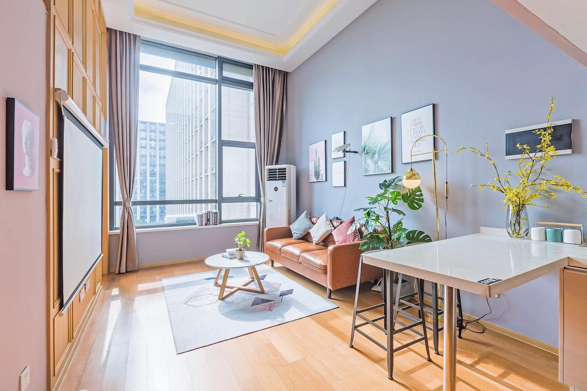 【小灰灰】獨立臥室、一客一消毒  杭州市區精裝loft、銀泰商圈 、近西溪濕地 黃龍 出行便捷