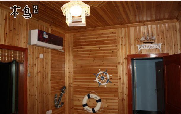 东栅景区旁日实木屋大床房