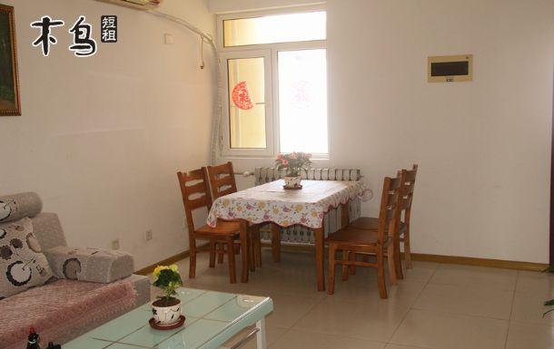 青岛栈桥火车站180度海景公寓双大床两居