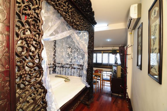 西塘临水雕花阳台房 可在阳台垂钓品茶