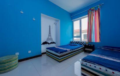 青岛金沙滩海景房 双床卧室