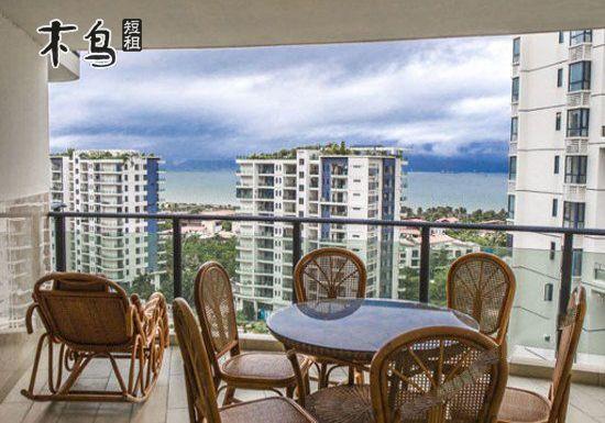 三亚湾海滨一线美丽新海岸小区高级豪华海景三室套房