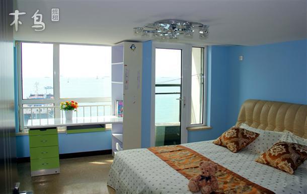 青岛栈桥火车站浪漫风情复式两室一厅唯美全海景