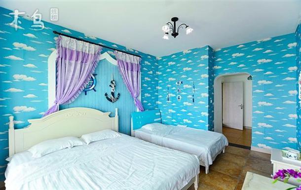 三亚大东海 地中海风格 海景套房-四室四卫