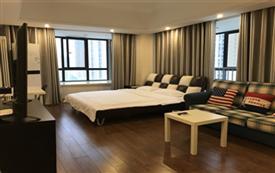 万达广场附近 景致大床房