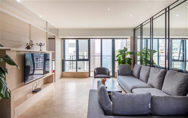 三亚湾海月广场 蓝色海岸小区 超豪华海景复式四房