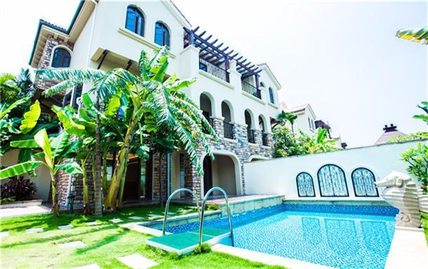 三亚亚龙湾高品质独栋泳池/五房别墅