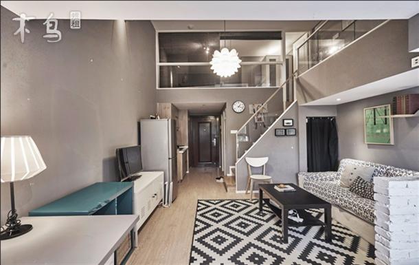 杭州设计师风小轻奢城西银泰旁三个卧室loft公寓
