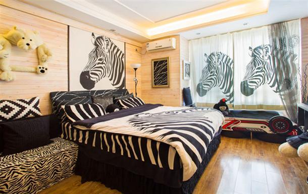大连金石滩家庭旅馆黑白经典高档公寓 可做饭