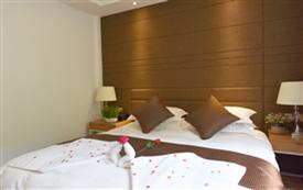汤口镇黄山景区的舒适大床房