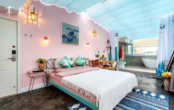 石林风景区 冰雪海洋世界 顾家别院 轻奢独栋 全景星空豪华浴缸大床房