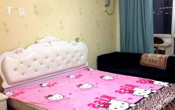洪家樓國美旁陽光明媚的大床房