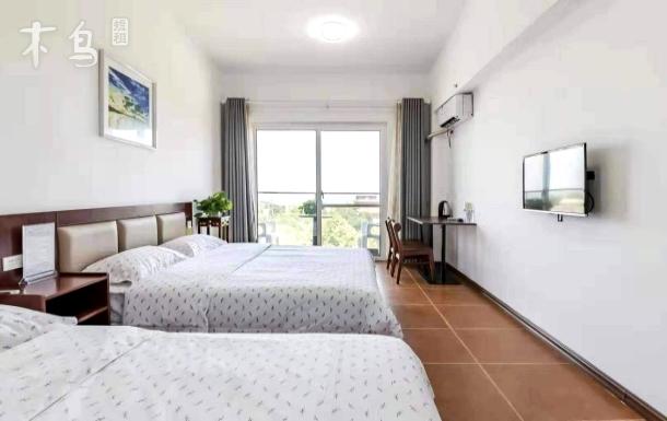 蓬莱阁,家庭双床房,实景拍摄,整洁清新