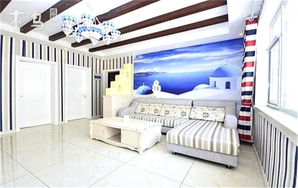 近海地中海風格精裝修二層大平米三室兩廳