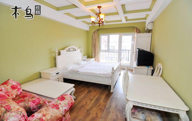 北戴河临海200米刘庄步行街主题情侣大床公寓自助厨房