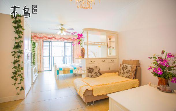 三亚湾公寓短租房 豪华海景大床房