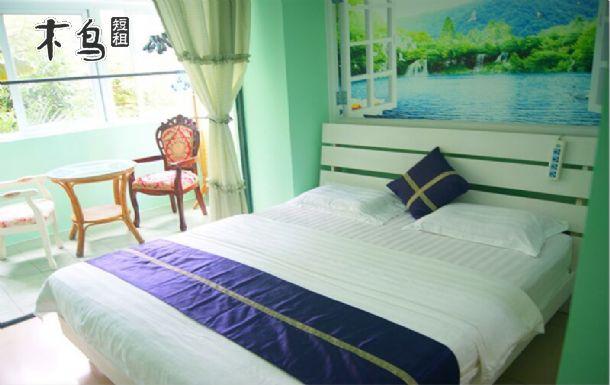 大东海旅游度假区附近三亚椰海度假公寓大阳台大床间212