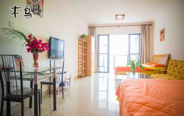 三亚湾 椰梦长廊旁 海景双大床家庭房