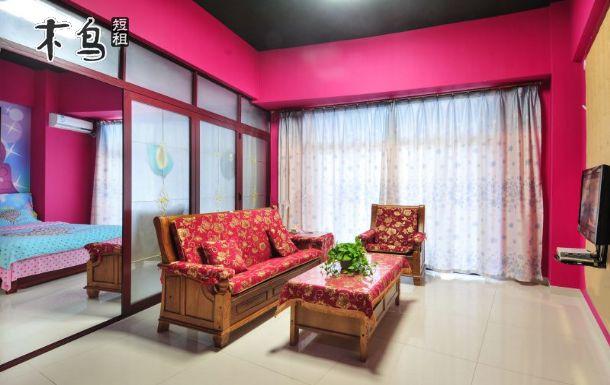粉红蝶影海景套房-三亚湾海月广场