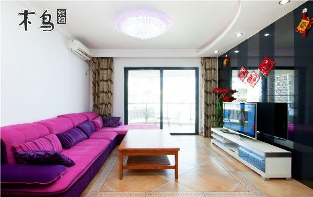 大东海金茂高层奢华阳台海景两室一厅