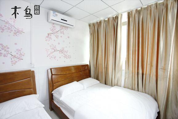 广州天河公园  豪华双床4人间短租日租