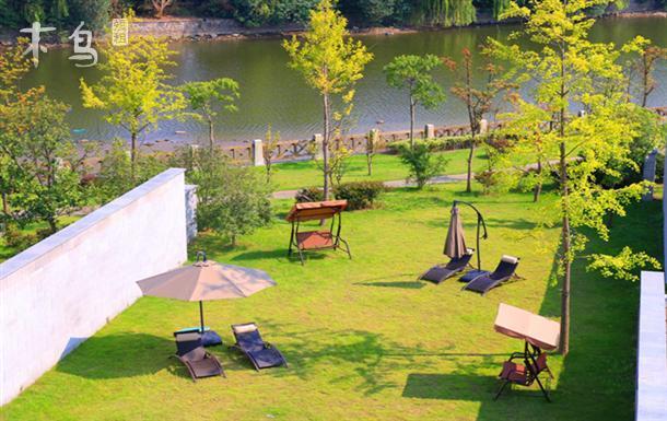 一线江景中式别墅-户外千方草坪-泳池派对-大学城附近