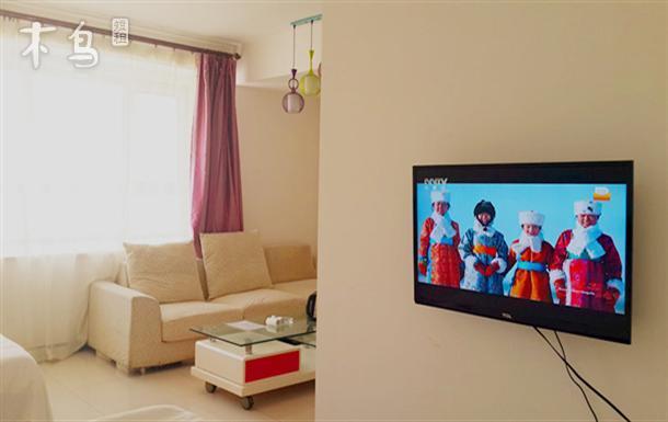 人民广场西侧碧海云天公寓空调带厨房舒适五人间