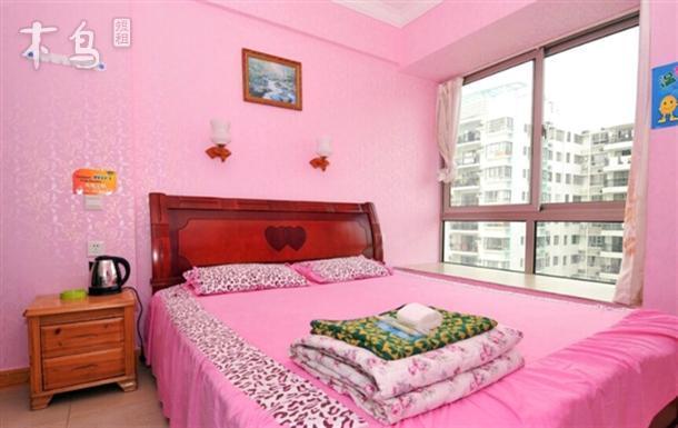 近大东海旅游生态区、飘窗园景大床房