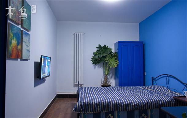 宋庄艺术区的农家生活民宿 单间卧室大床房