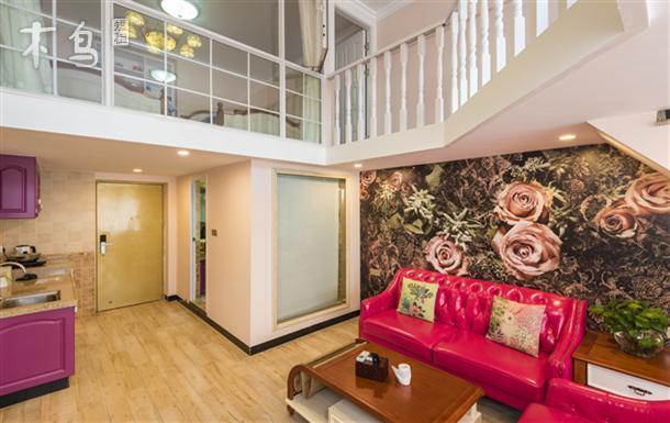 长隆地铁G出口 欢乐世界对面 温馨浪漫复式两室一厅