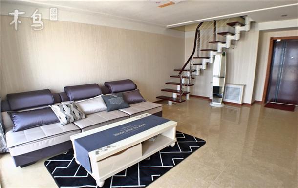 步行海水浴场 可做饭 全海景复式两室一厅