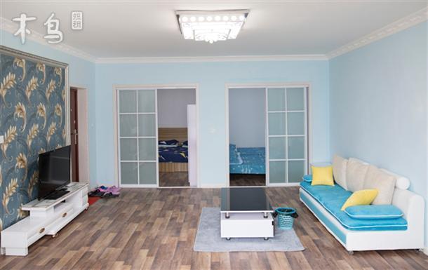 海水浴场 一线海景 两室一厅可住6人