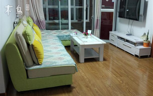 黄岛金沙滩漫步沙滩度假公寓海边5分钟3居套房
