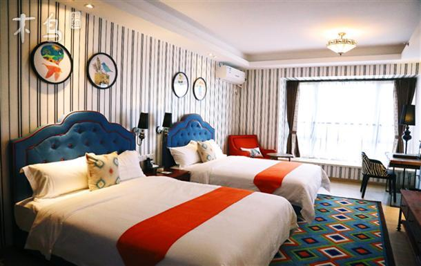 长隆欢乐世界、水上乐园--年轻时尚现实派主题双床房
