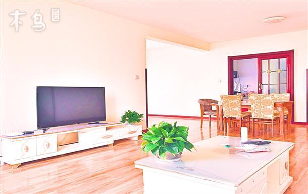 青岛瀚海金沙滩160平全景看海三室两厅四床 可做饭
