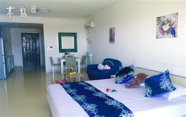 三亚湾椰梦长廊明亮海景温馨一居室