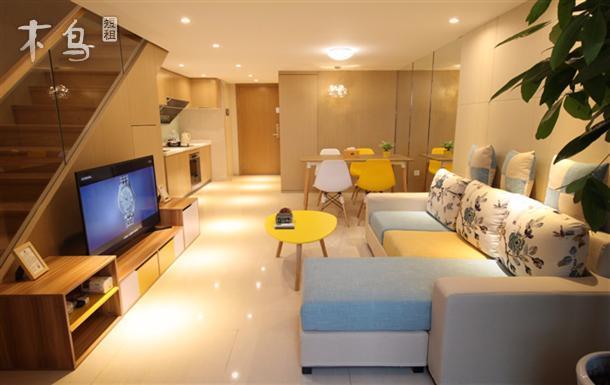 迪士尼11号线御桥站新国展复式loft北欧03二室豪华套房