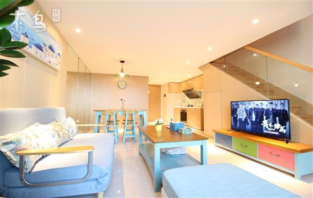 迪士尼 新国展御桥地铁站loft复式地中海二室豪华套房