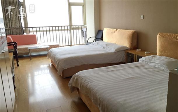 塘沽洋货市场 美嘉公寓 豪华双床房