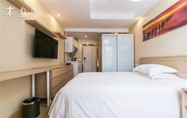 月租公寓  可做饭 有洗衣机 经济型大床房