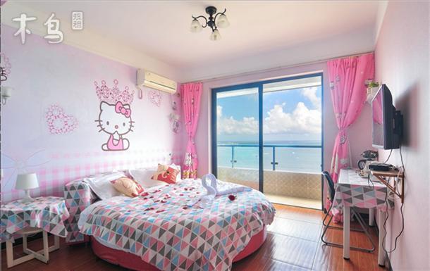 三亚空气海景公寓HelloKitty圆床房