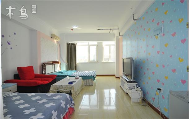 绕城高速口温馨一室双床日租公寓