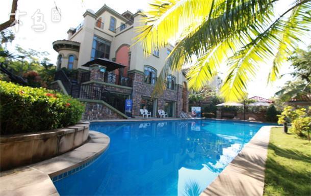 大东海景区精装别墅四室一厅一厨四卫私家游泳池免费潜水体验