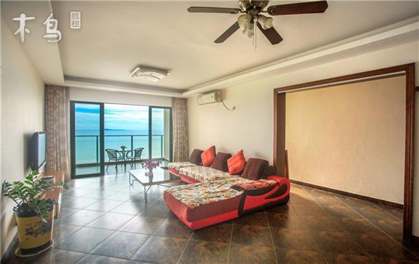 豪华海景两房一厅三亚湾海边50米蓝色海岸小区兰海花园三期椰梦长廊