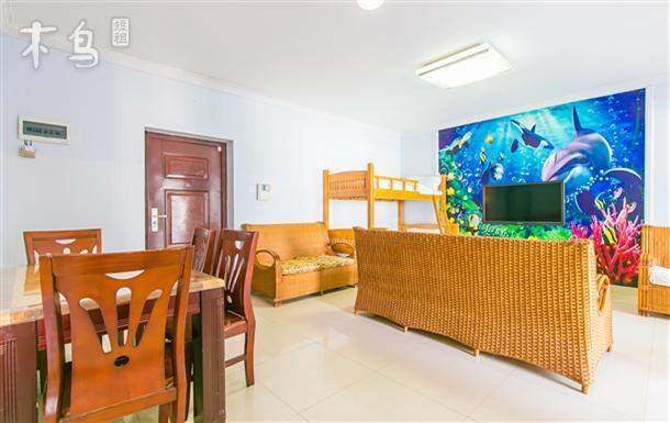 海底世纪主题市景两室一厅多床房