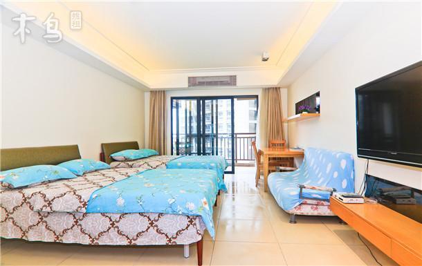 熠海海景公寓温馨海景双床房