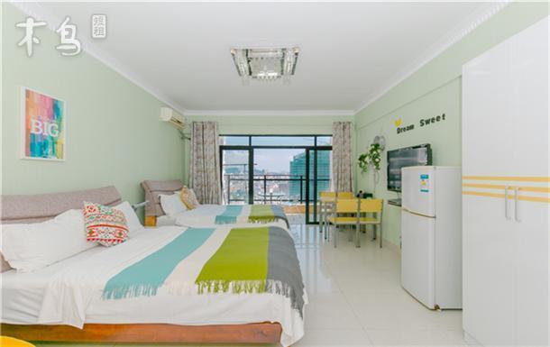 三亚湾椰梦长廊金凤凰海景公寓豪华海景双床房