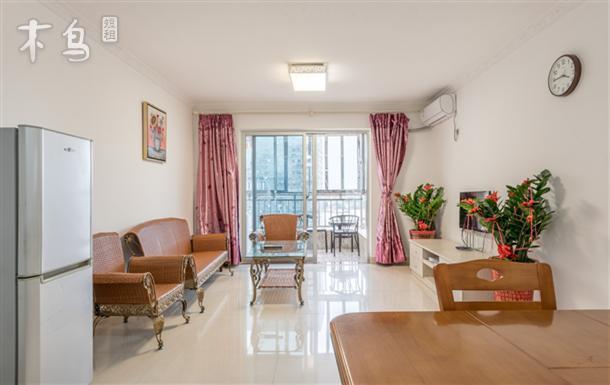 厦大旁高层舒适海景两室家庭套房,近步行街